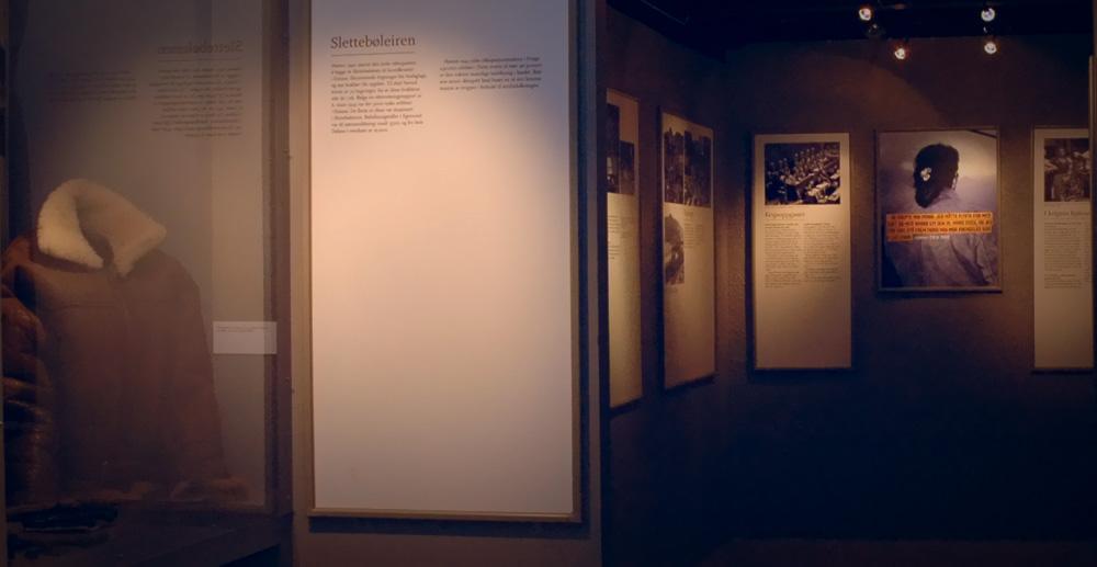 Foto fra del av krigsutstillingen
