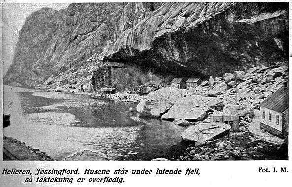 Utklipp av foto av Helleren. Foto: I. Mehus. Dalane Folkemuseum.