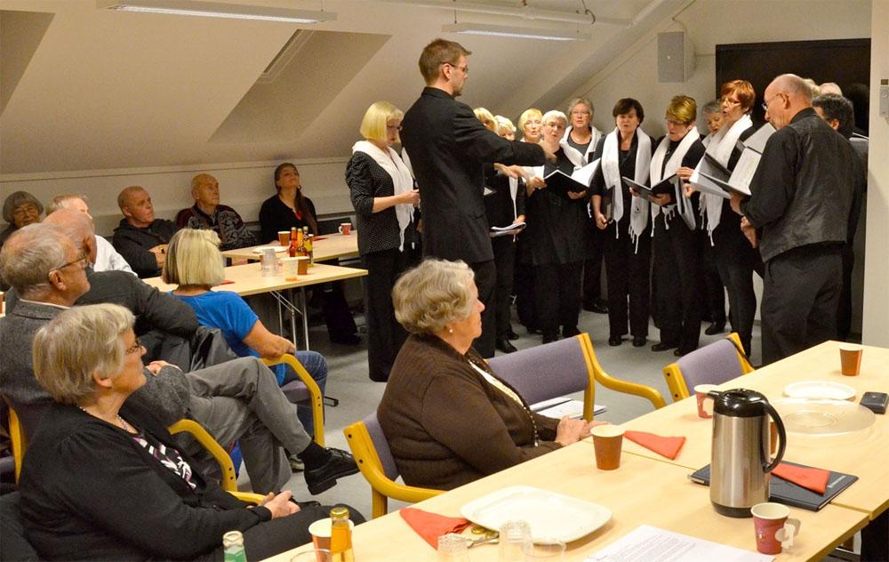 Koret Chorus som opptrer under museets julearrangement 2011. Foto: Torbjørn Bøe