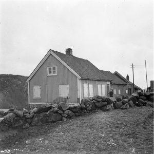 Foto av Dalane Folkemuseums lokaler på Årstad i 1920. Foto: M. E. Dancke