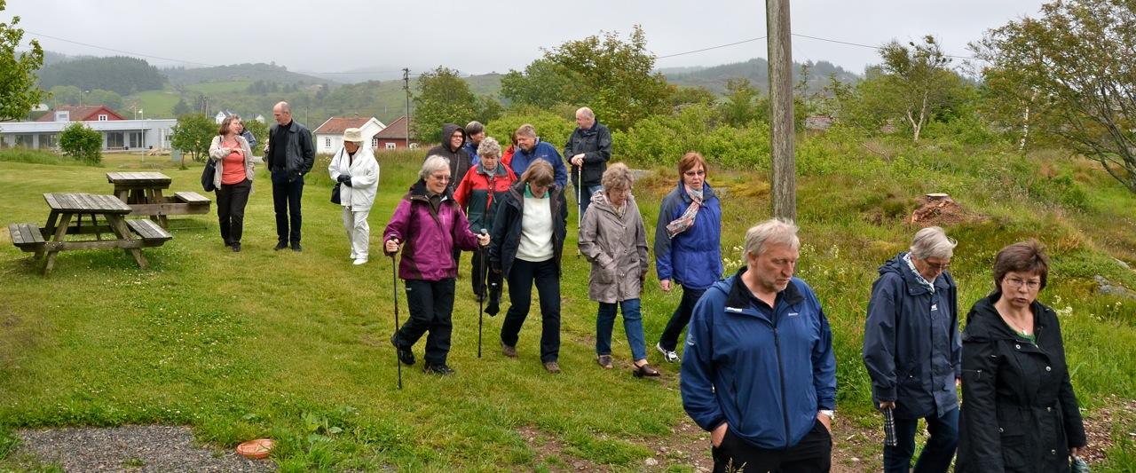 Det var lett å komme seg rundt på det velholdte området. Foto: Torbjørn Bøe.
