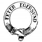Stempel fra A/S Egersunds Fayancefabriks Co. cirka 1868-1876