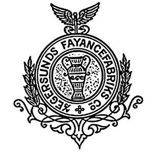 Stempel fra A/S Egersunds Fayancefabriks Co. cirka 1920-1952