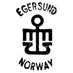 Stempel fra A/S Egersunds Fayancefabriks Co. cirka 1969