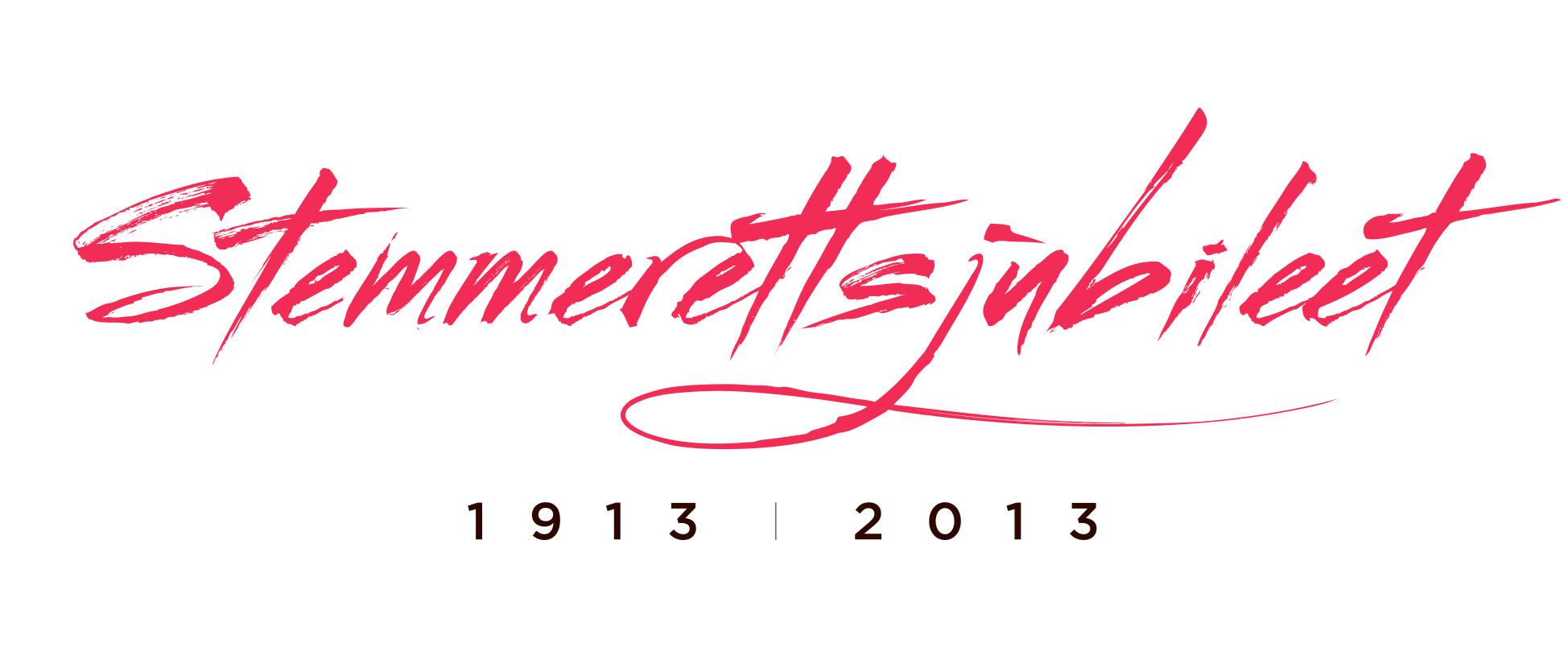 Logoen til Stemmerettsjubileet 2013