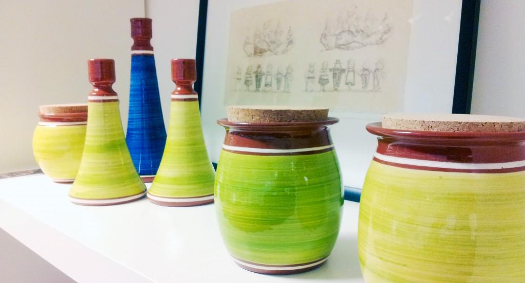 Krukker og lysestaker fra Egersund Terracotta og Keramikk