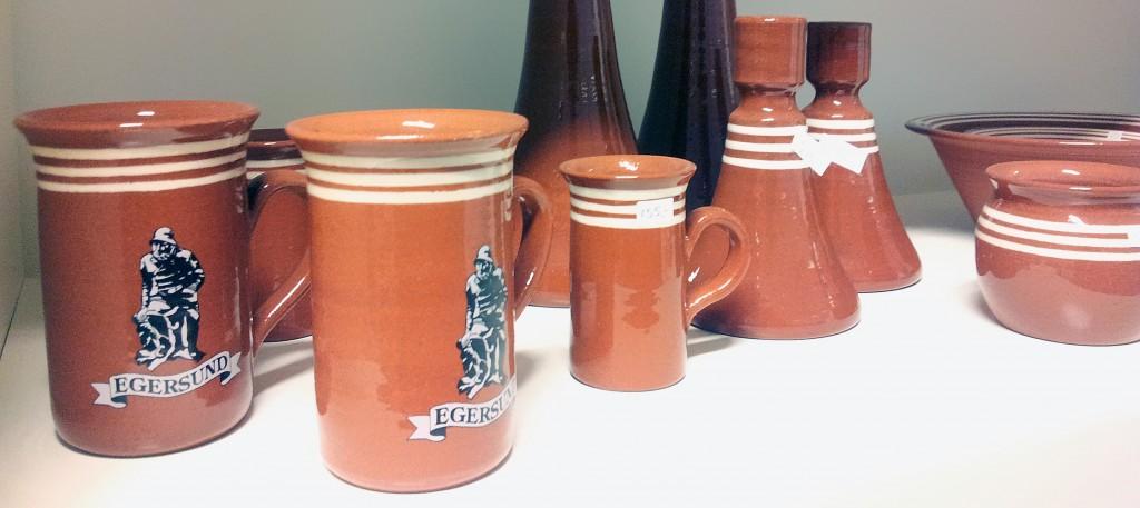 Kopper og lysestaker fra Egersund Terracotta og Keramikk