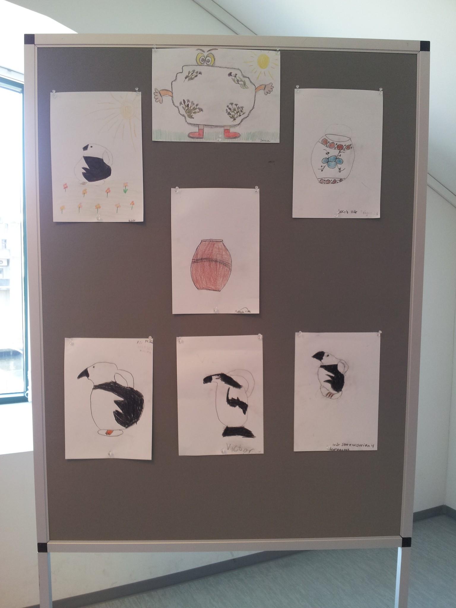 Tegninger fra Egersund Fayancemuseums tegnekonkurranse 2015